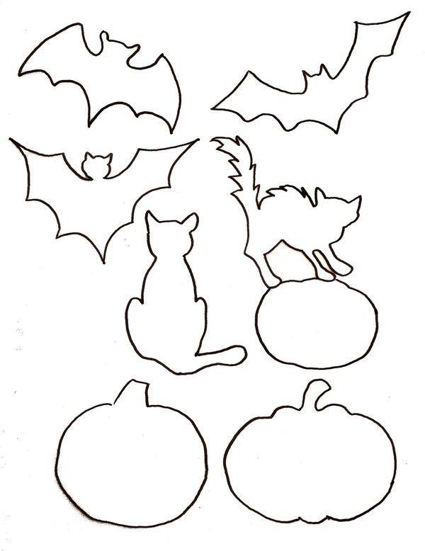 Gabarit - Halloween pour tableau feutrine