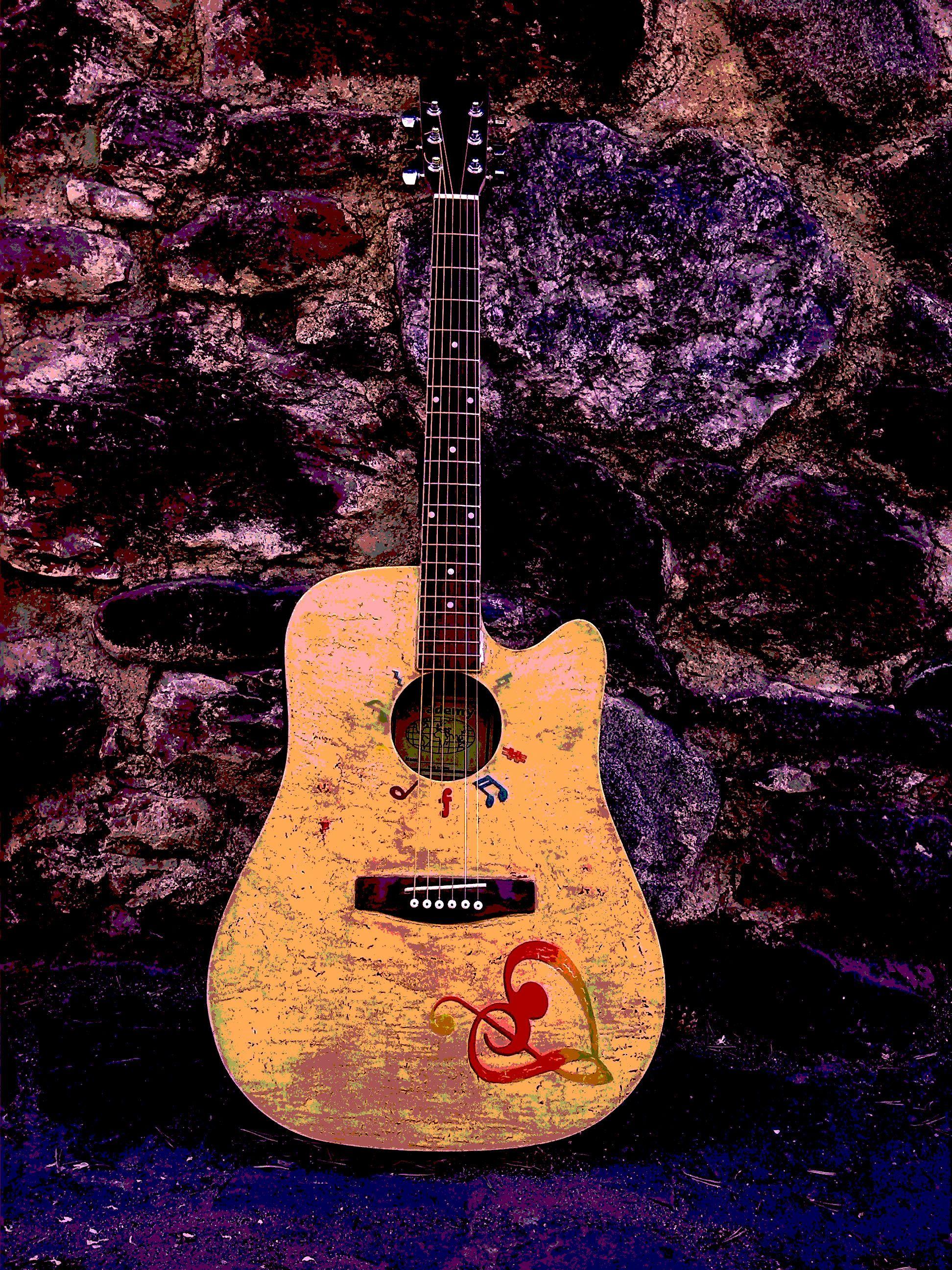 Fotografía deigital de mi guitarra