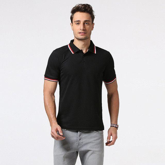 3308c184 Men Polo Shirt Short Sleeve Summer Style White Polo Shirts for Men ...