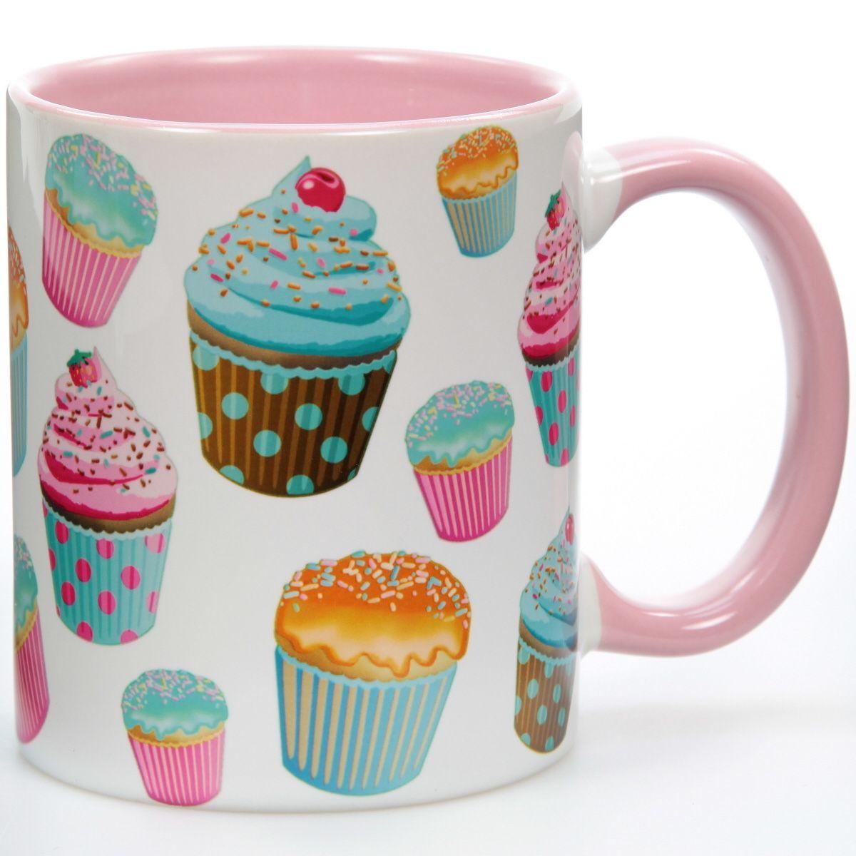 Cupcakes Vintage Ceramic Mug | Cafe Coffee Mugs | RetroPlanet.com