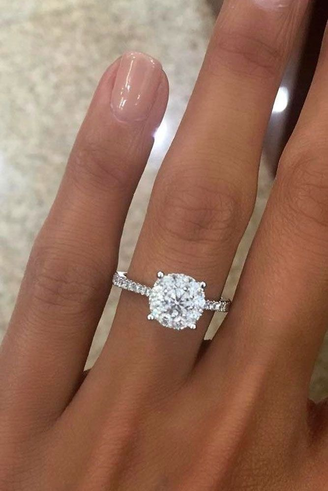 24 Top Round Engagement Rings See More Http Www Weddingforward Utm Content Buffer513bb Medium Social Sour