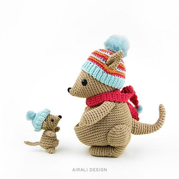 Kangaroos | amigurumi crochet pattern | Bea and Miki, mom and baby ...