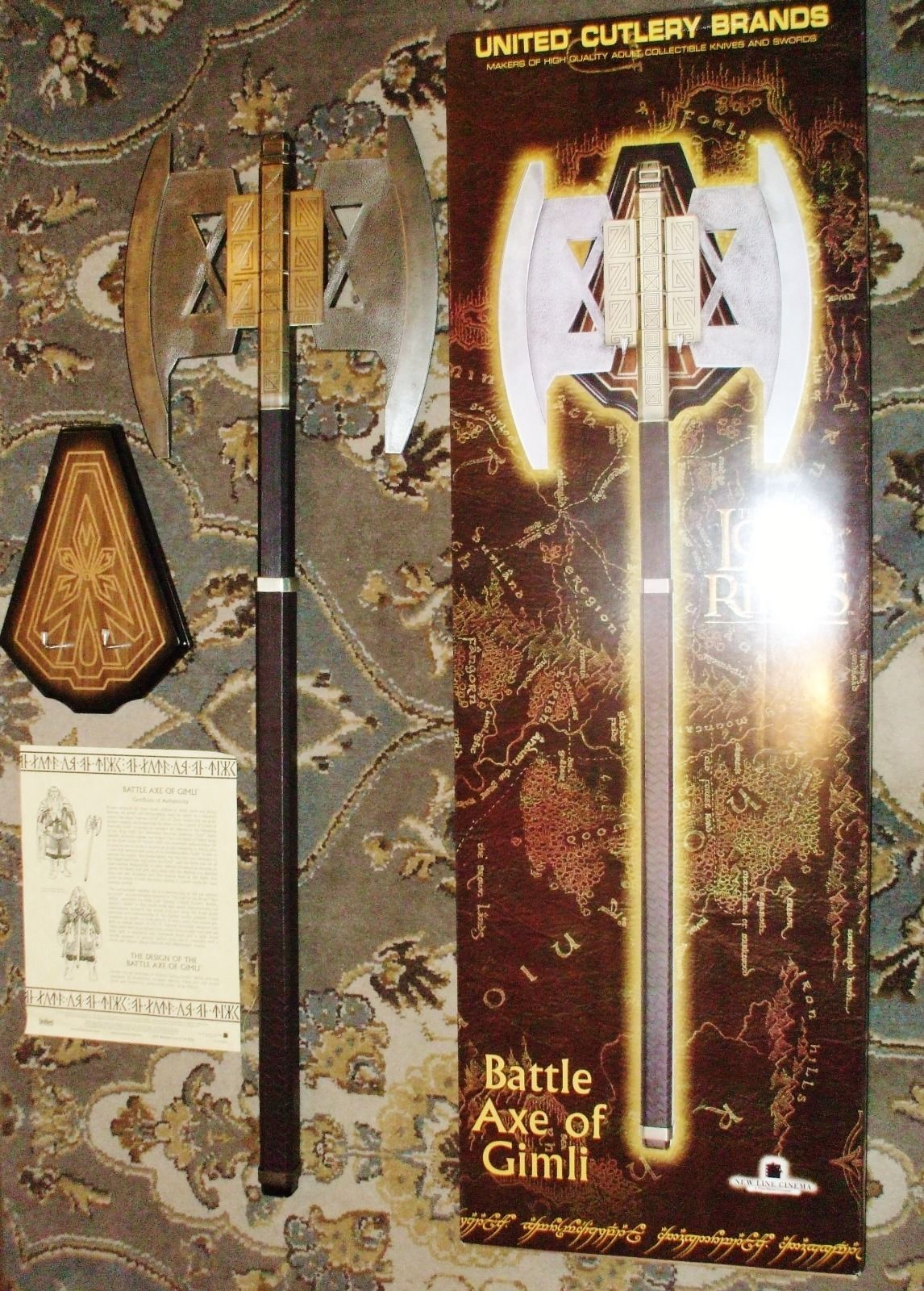 United lotr images uc1380aslb anduril jpg - United Cutlery Battle Axe Of Gimli Uc1397abnb