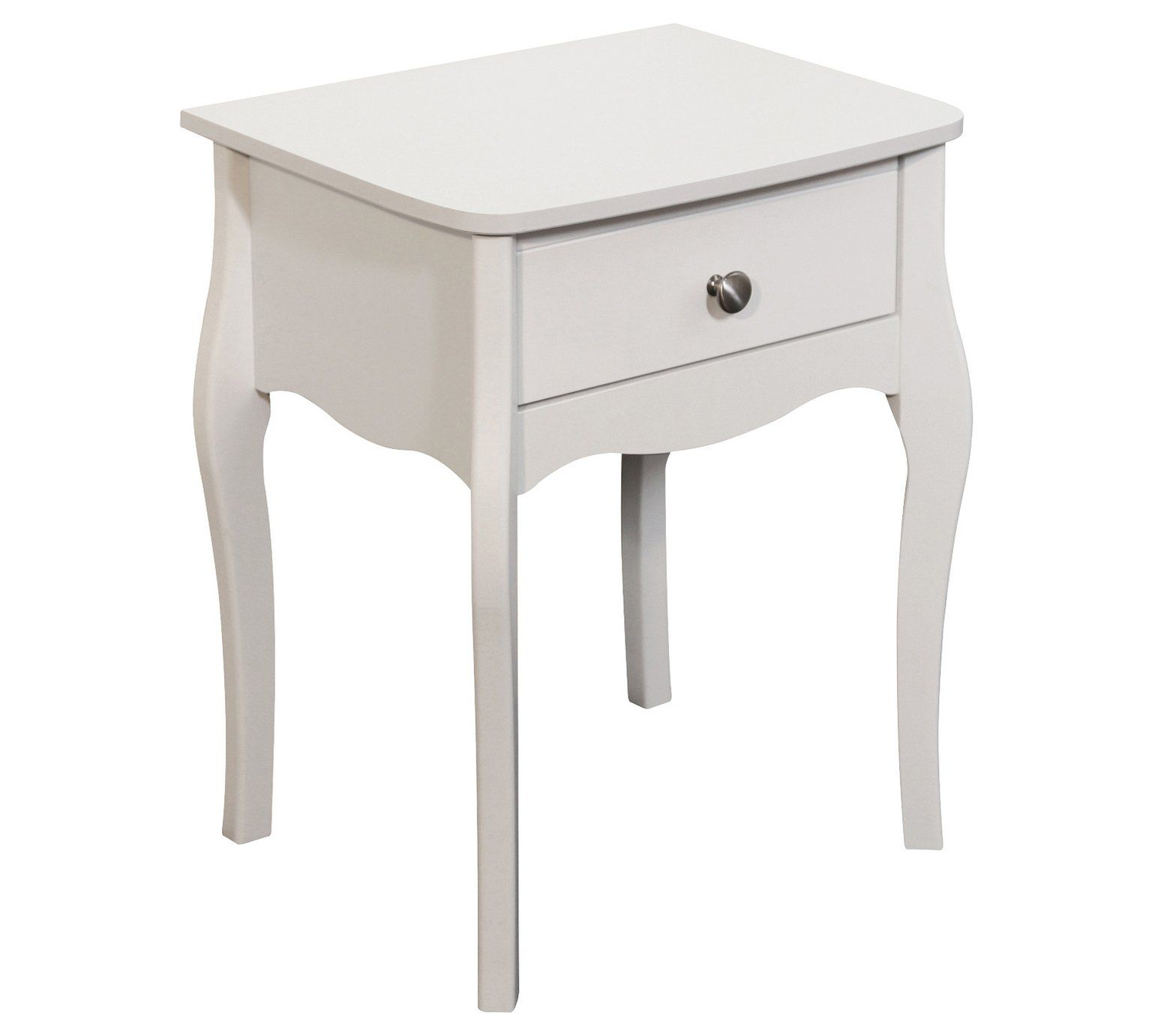 Buy Baroque 1 Drawer Bedside Chest White At Argos Co Uk Visit
