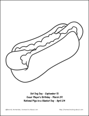 Hot Dog Coloring Pages Dog Coloring Page Color
