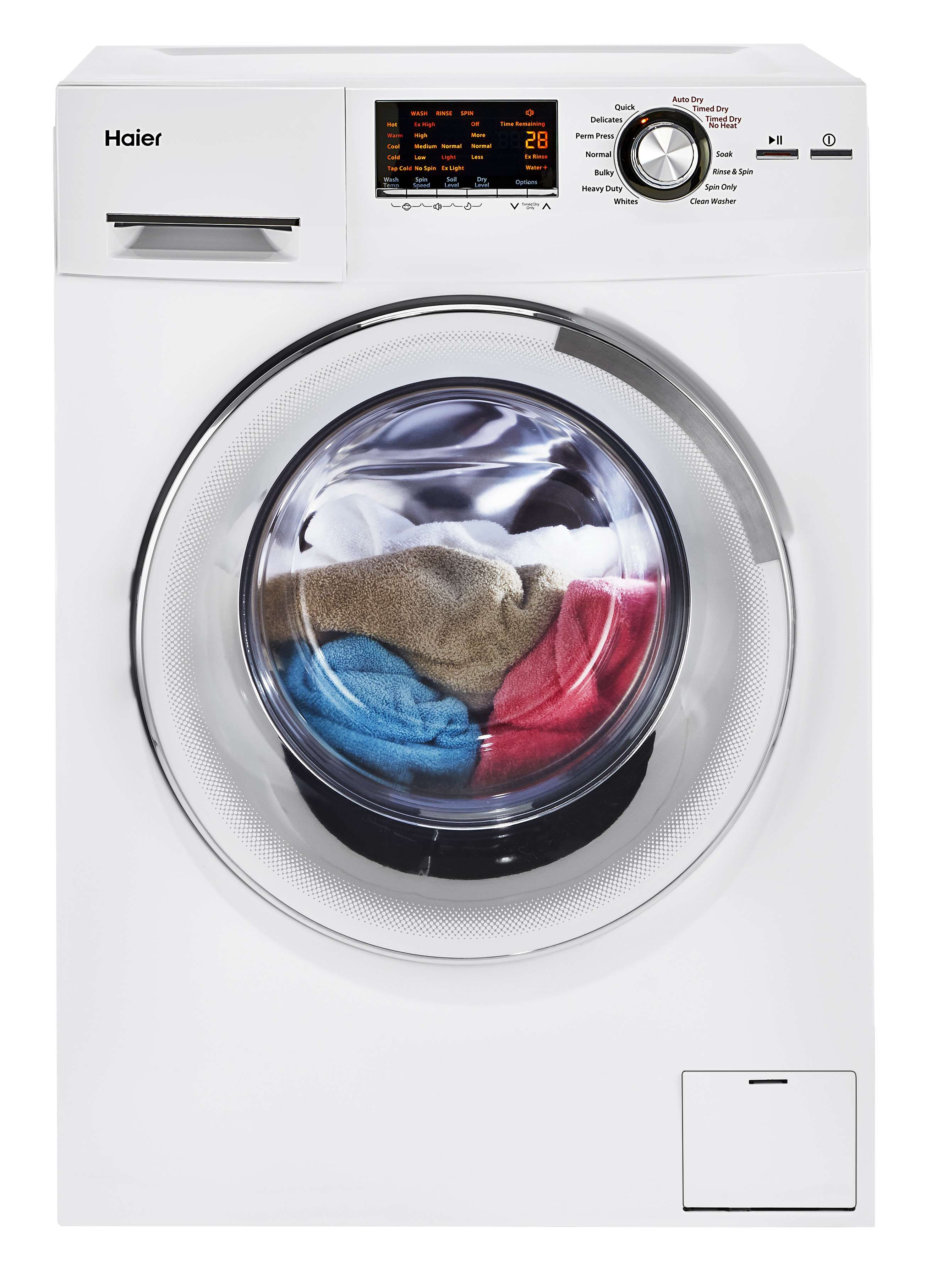 Hlc1700axw By Haier Electric Washer Dryer Combos Goedekers Com