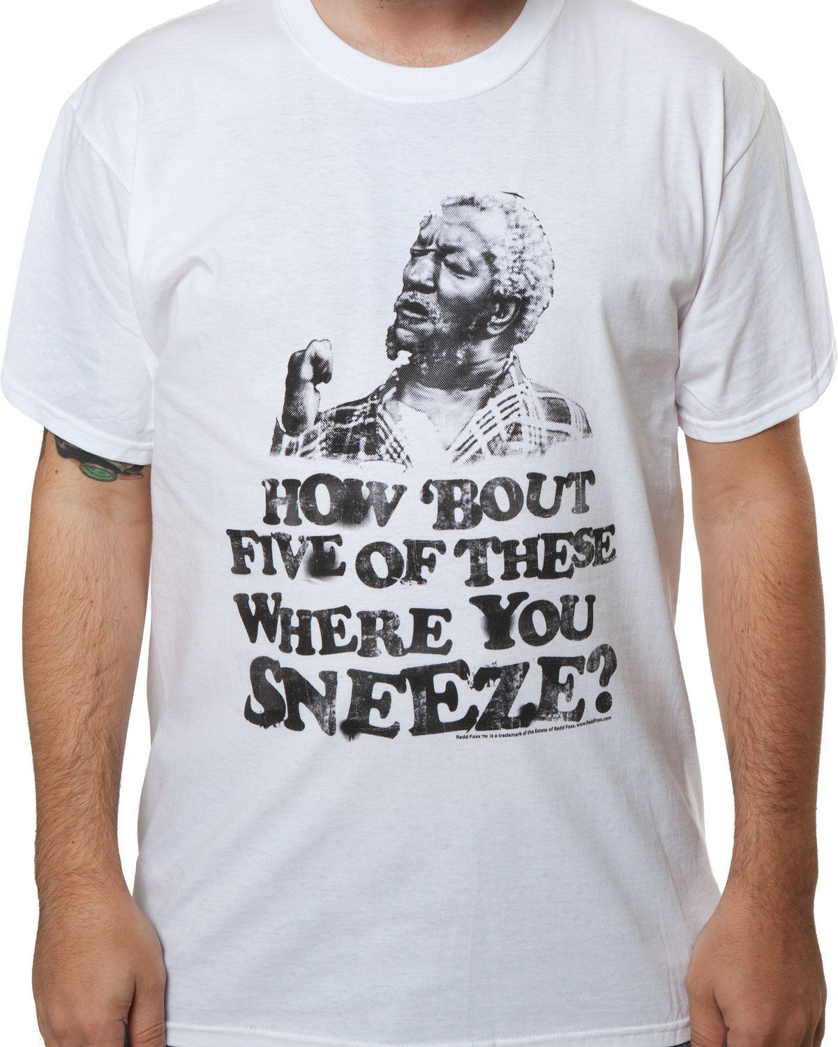 Sanford /& Son Funny TV Show How Bout 5 Of These Where You Sneeze Adult T Shirt