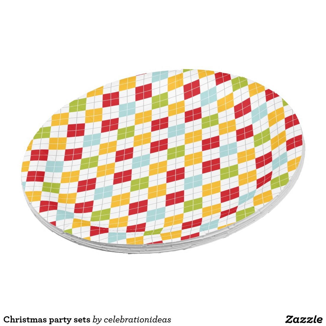 Christmas party sets paper plate  sc 1 st  Pinterest & Christmas party sets paper plate | Christmas Paper Plates ...