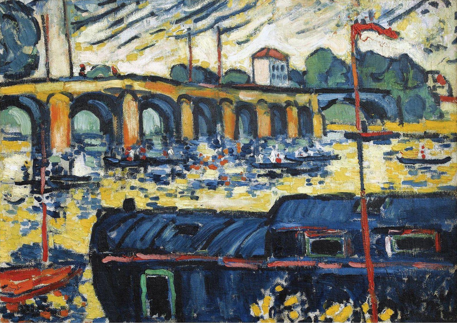 The Bridge of Poissy, 1905. Maurice de Vlaminck