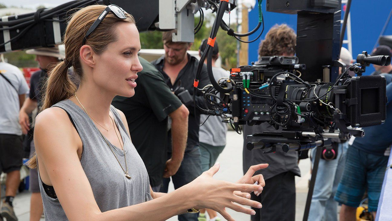 """Angelina Jolie, director of """"In the Land of Blood and Honey"""" """"Unbroken"""" and """"By the Sea""""."""