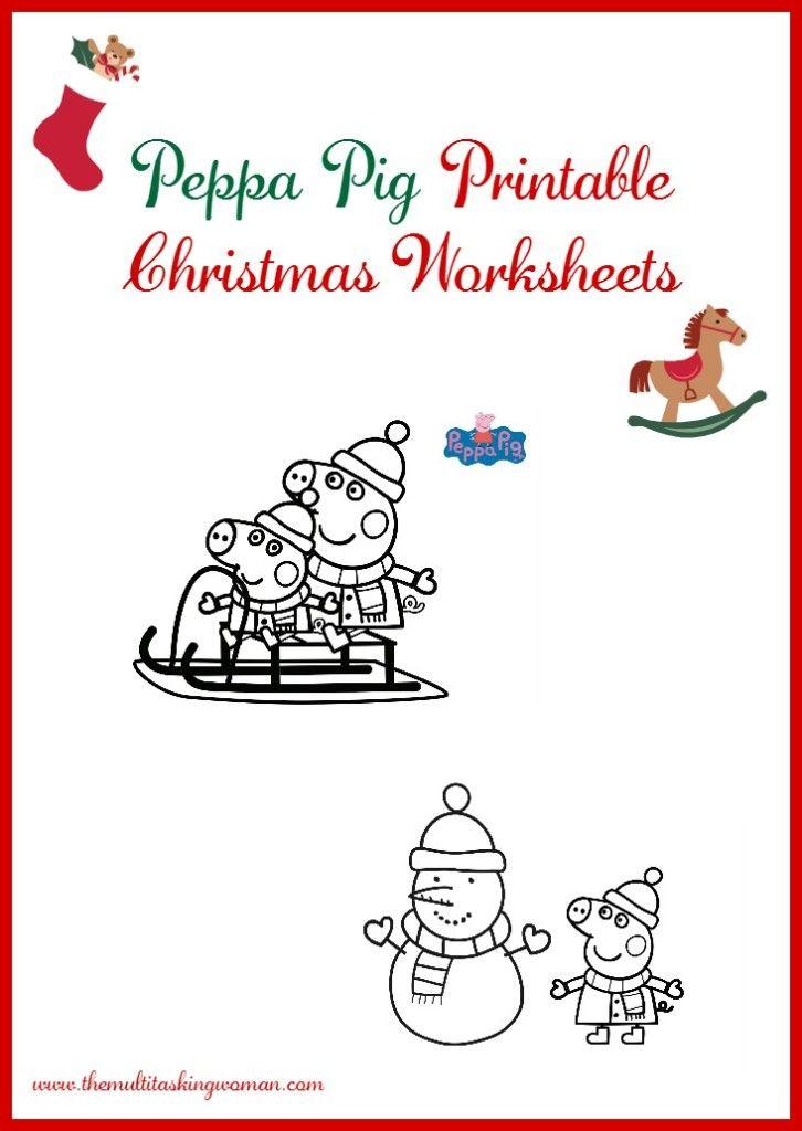 Peppa Pig Printable Christmas Worksheets   Worksheets