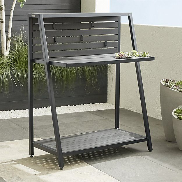 Miraculous Alfresco Grey Work Station Crate And Barrel Sd Backyard Ncnpc Chair Design For Home Ncnpcorg