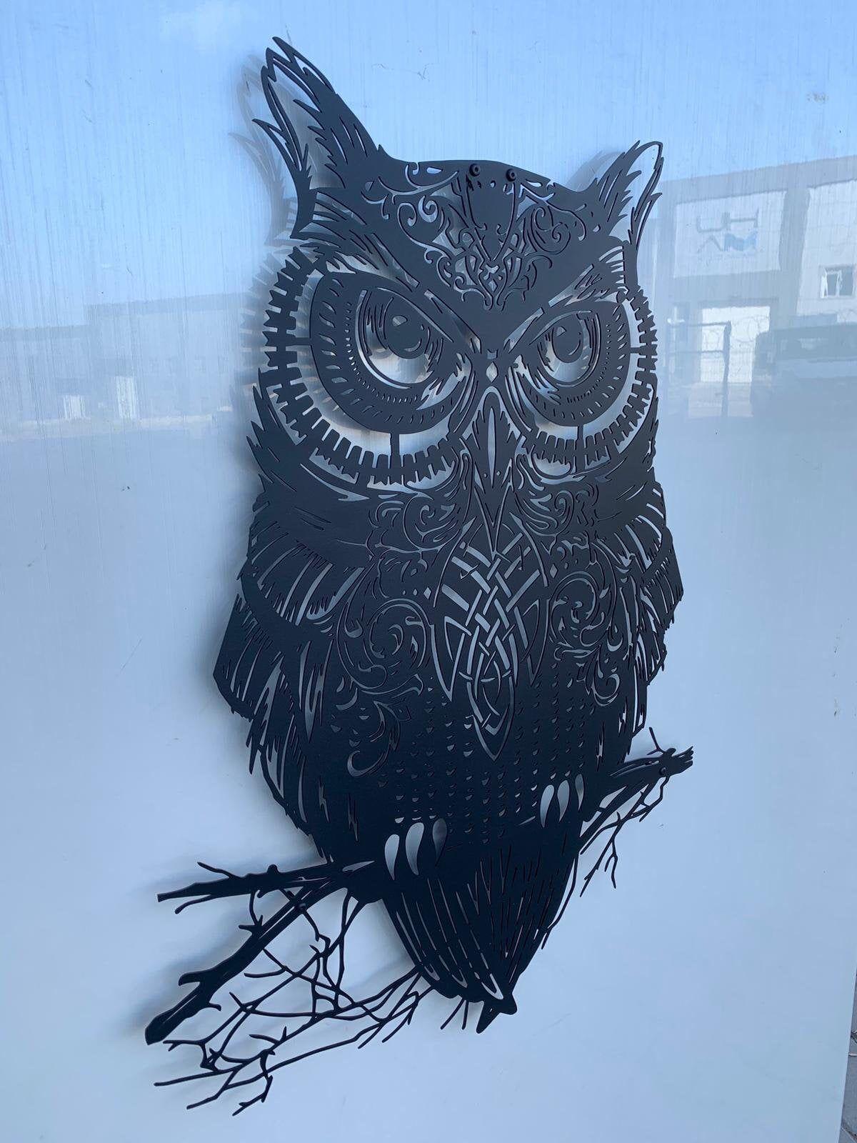 Owl Metal Wall Art Metal Wall Sculpture Metal Wall Decor Etsy Metal Wall Art Metal Wall Sculpture Large Metal Wall Art