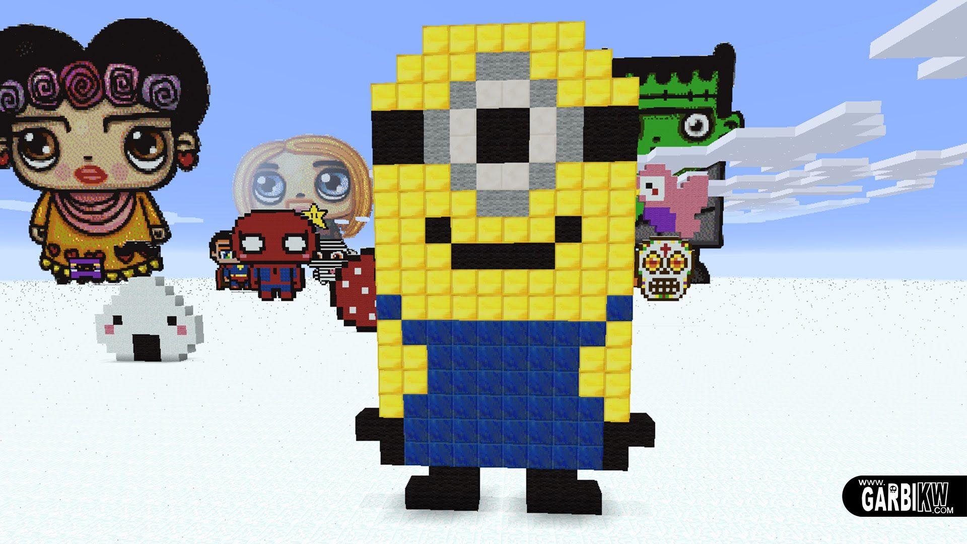 Minecraft Pixel Art How To Make A Minion ¢ートのアイデア Ôクセルアート ¢ート