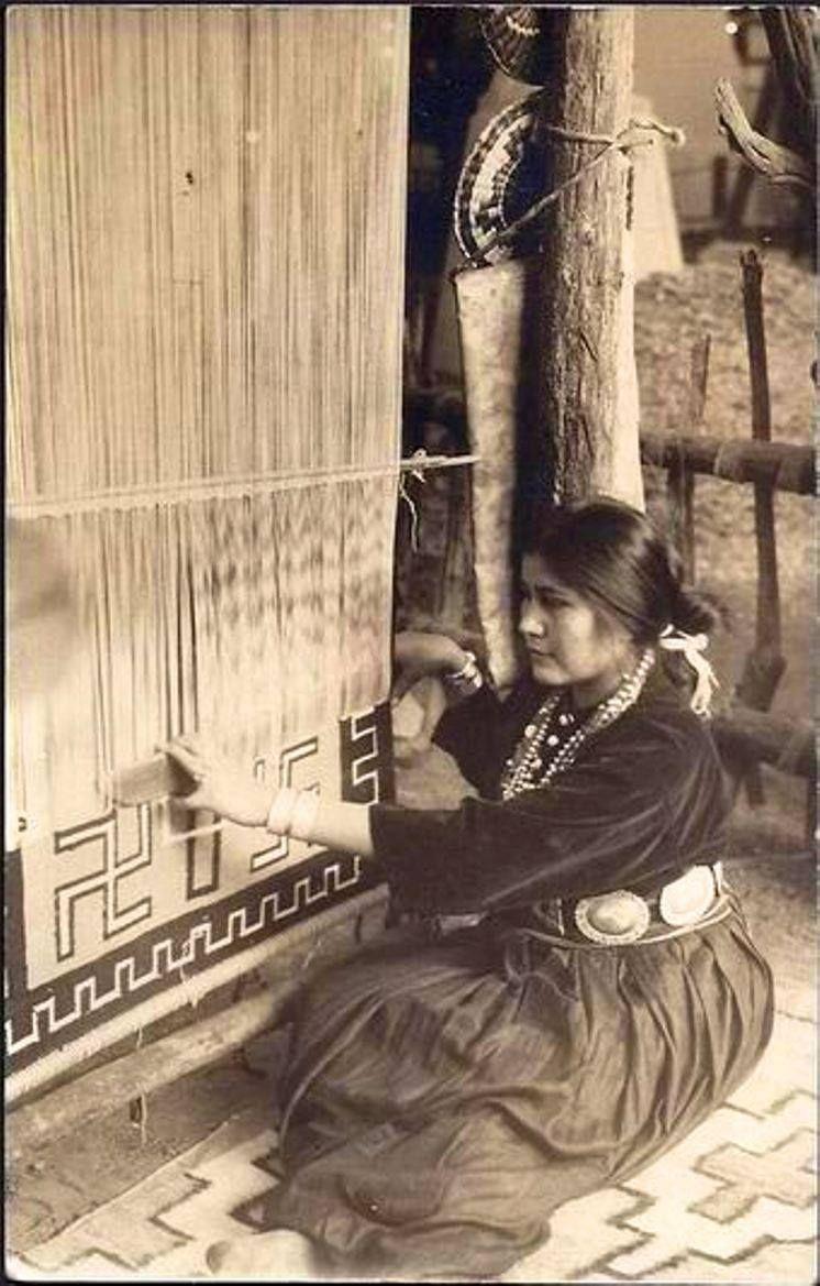 Navajo weaver, Edmund Curtis