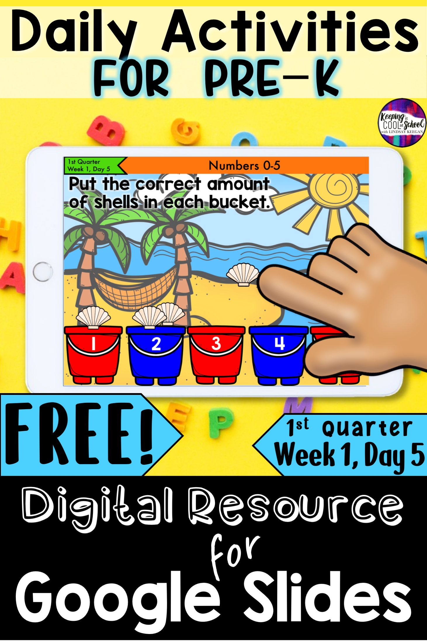 PreK Distance Learning Daily Activities for Google