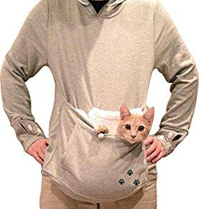 Amazoncom Bode Women Large Pocket Pet Cat Hoodie Fleece Pet - Hoodie with kangaroo pouch is the perfect cat accessory