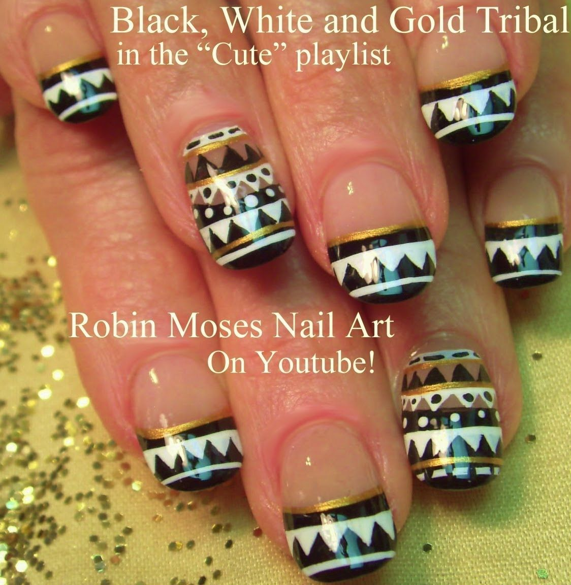 Tribal Nail Art up for friday! join me for new art all the time ...
