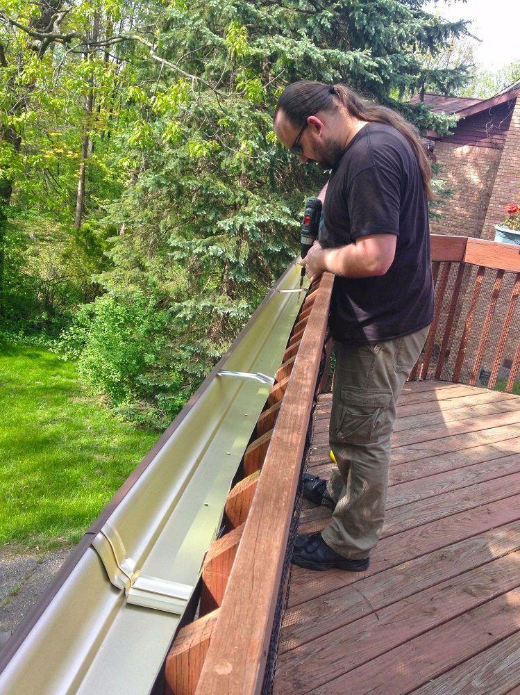Easy gutter garden for a deck gutter garden diy gutters