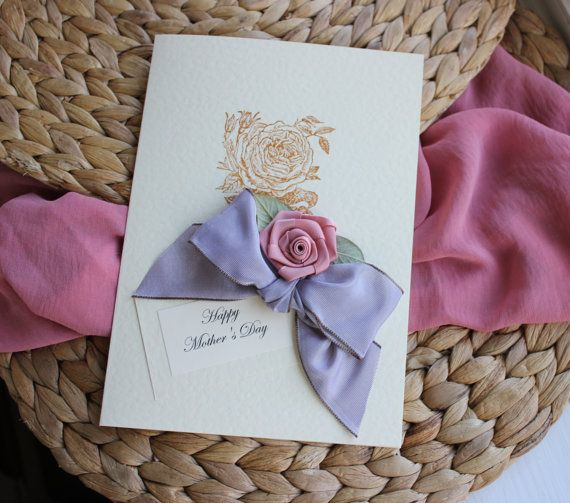 Birthday Card Mum Shabby Chic New Mummy Gift Card for by Thymerose