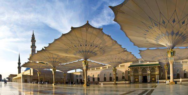 Sonnenschirme von Sefar für Moschee von Medina al-Munawwarah
