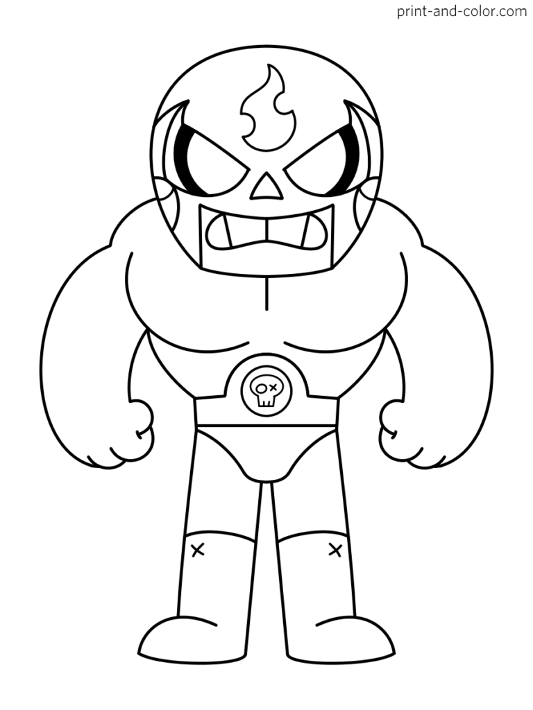 Brawl Stars Coloring Pages Print And Color Com Star Coloring Pages Coloring Pages Printable Coloring Pages