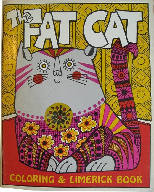 The Fat Cat Coloring And Limerick Book 1967