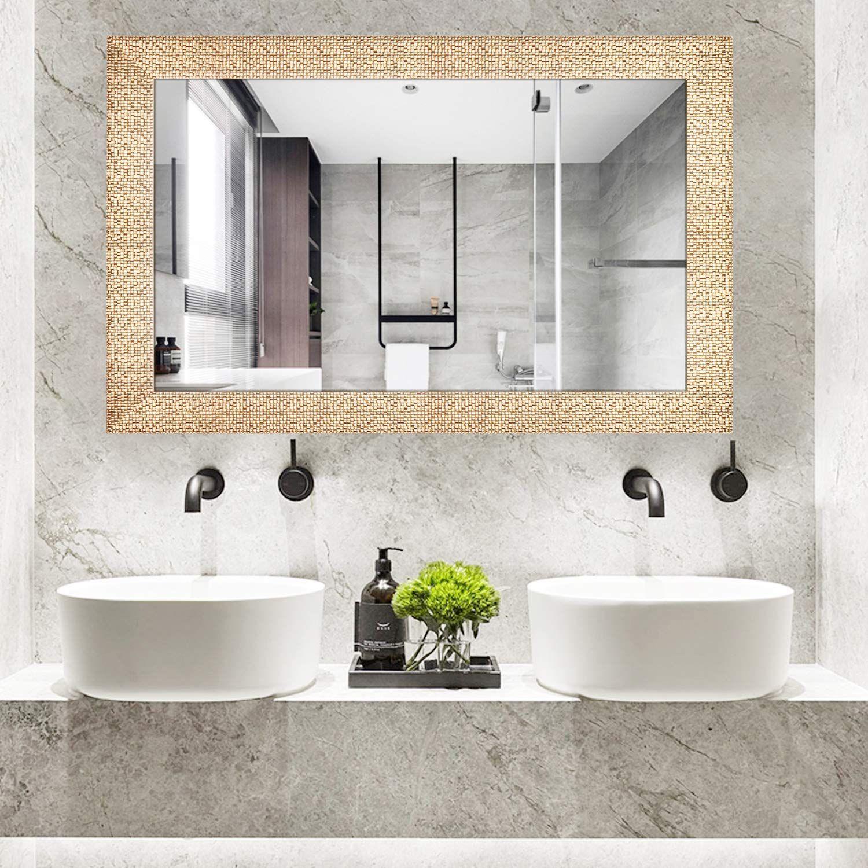 Handa Wall Mount Mirror Vanity Bathroom Mirror Hangs Horizontal Or Vertical Gold You Can Find In 2020 Mirror Wall Bathroom Bathroom Mirror Frame Bathroom Mirror