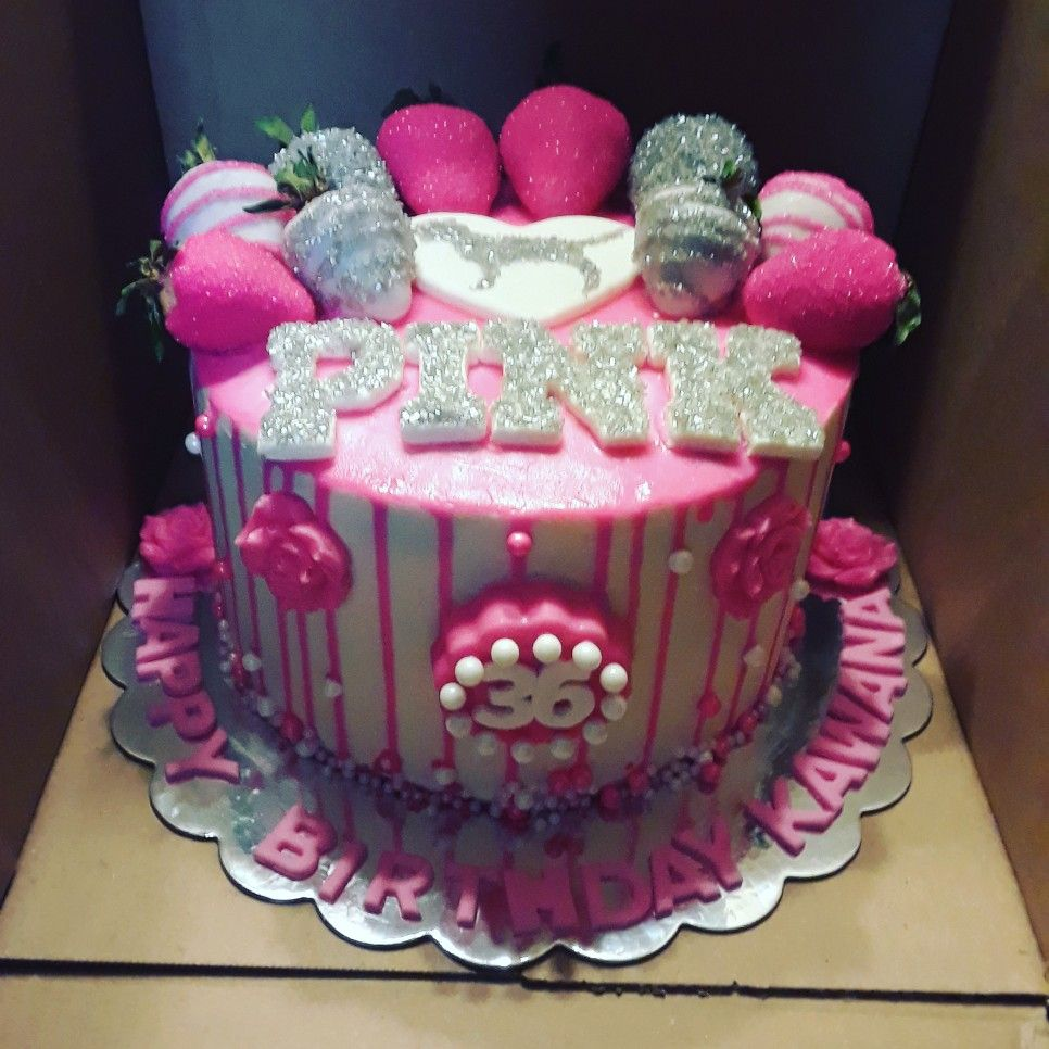 Victoria S Secret Pink Drip Birthday Cake 17 Birthday Cake Pink Birthday Cakes Pink Birthday Party