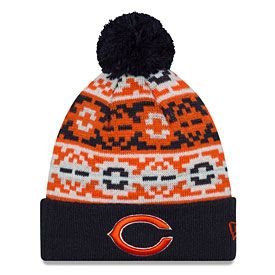Get this Chicago Bears Retro Chill Cuffed Knit Hat With Pom at  ChicagoTeamStore.com 0069e1f81b8d