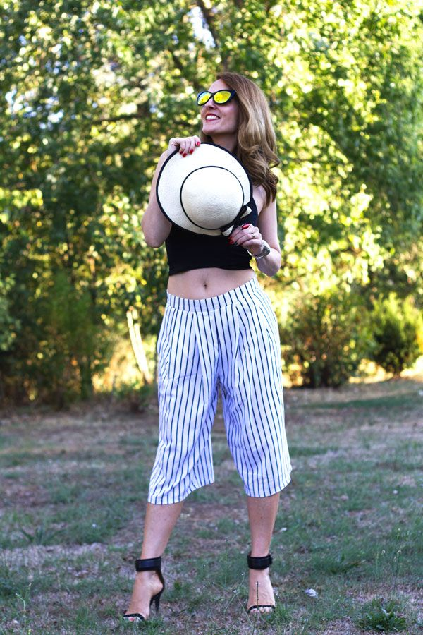 Crop top, culotes pants, style, fashion blog, fashion blogger