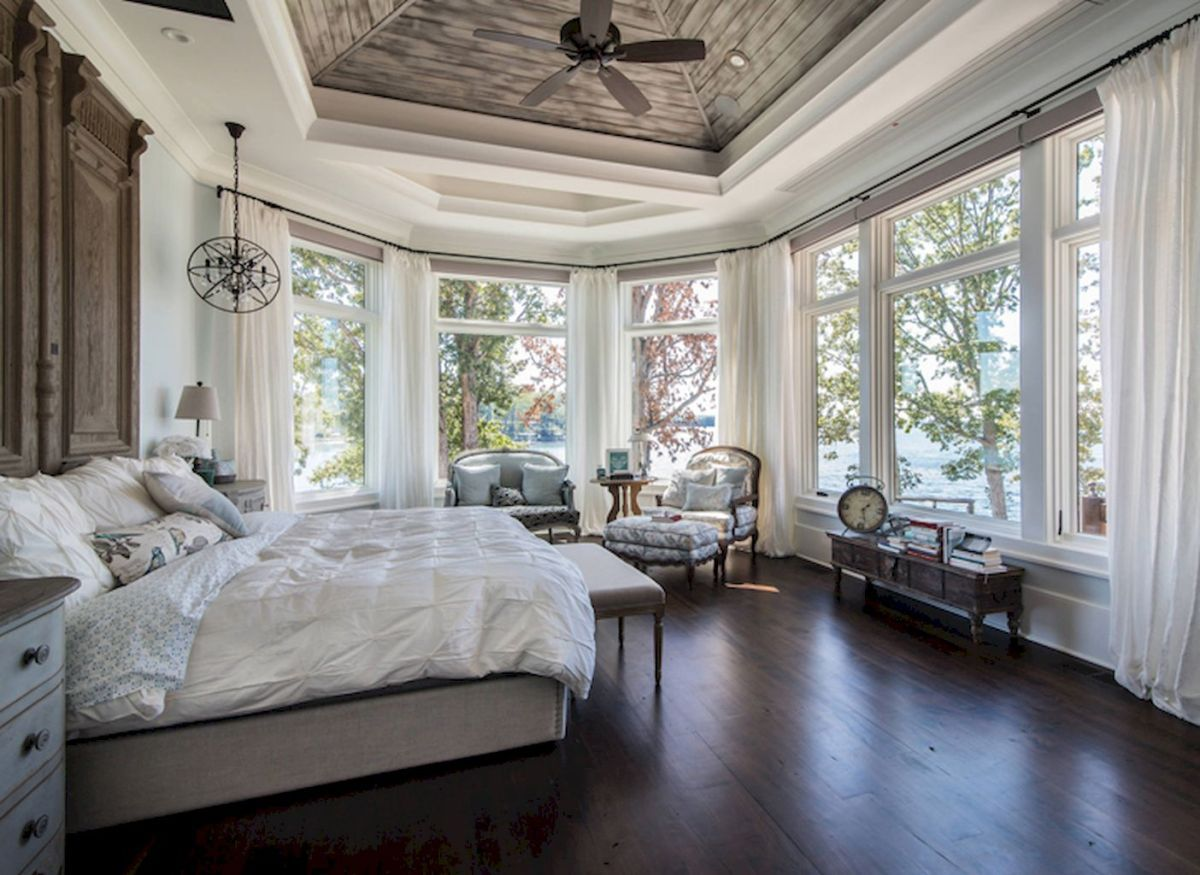 Rustic Lake House Bedroom Decorating Ideas (18 | Lake house bedrooms ...