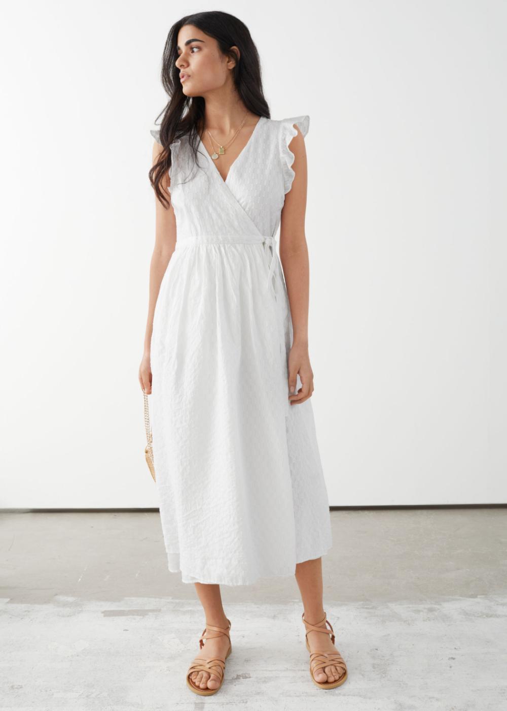 Ruffled Midi Wrap Dress Dresses Midi Dress Midi Wrap Dress [ 1400 x 1000 Pixel ]