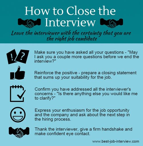 Closing The Interview Techniques  Job Search Job Interviews