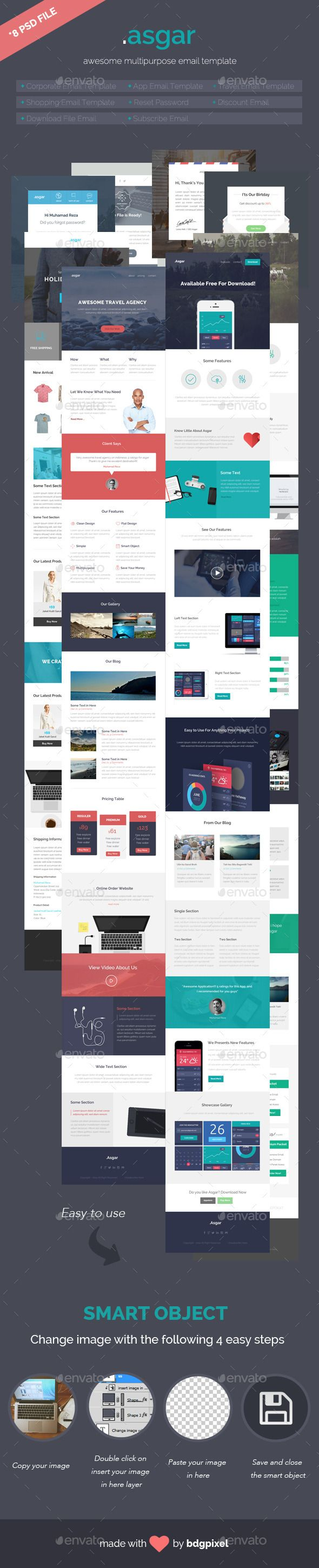Asgar Multipurpose Email Template Template Infographic