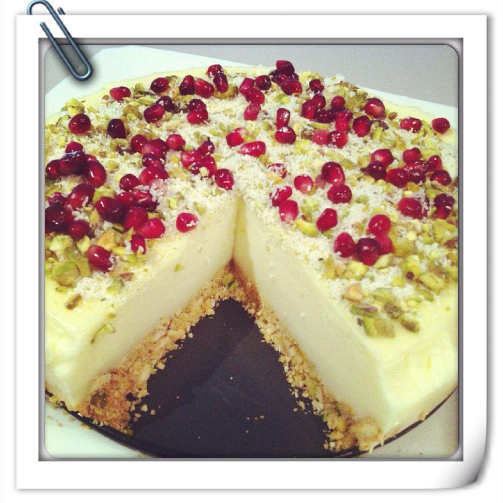 Mahlabiya cheese cake With pomegranate