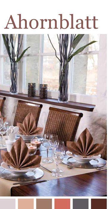 ahornblatt servietten herbsthochzeit pinterest. Black Bedroom Furniture Sets. Home Design Ideas