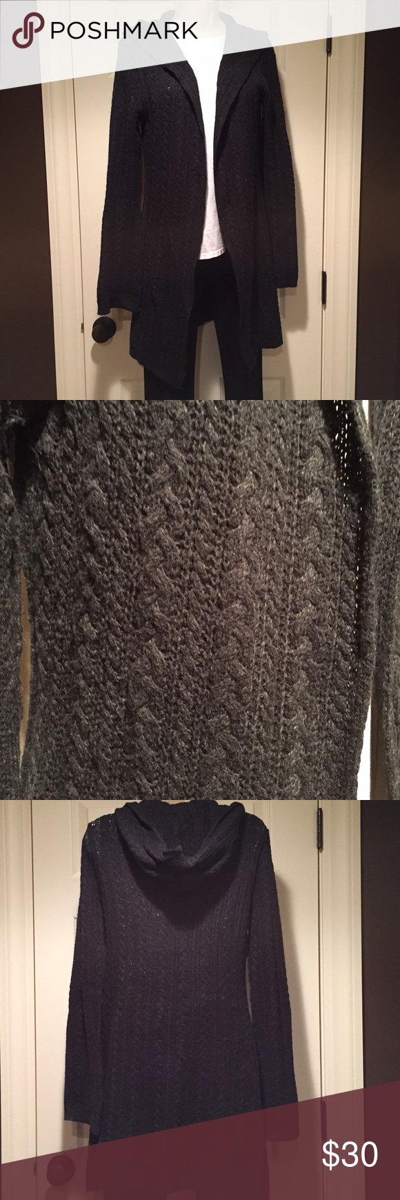 CAbi black cable knit sweater, S CAbi black cable knit sweater, S CAbi Sweaters Cardigans