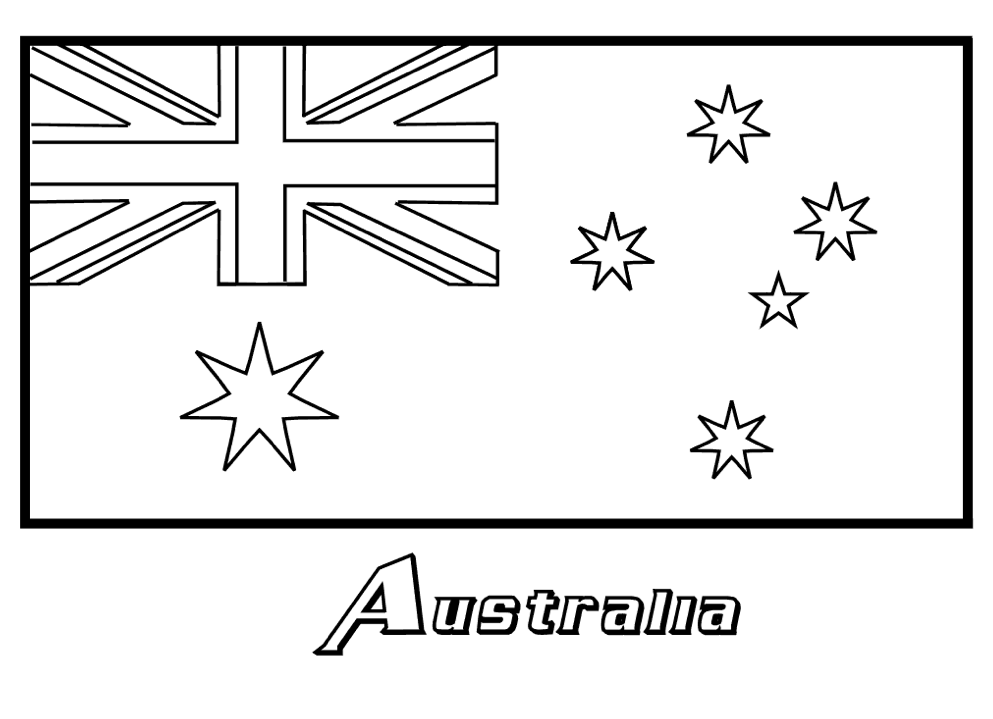 Australia Coloring Page | Flag coloring pages, Coloring ...