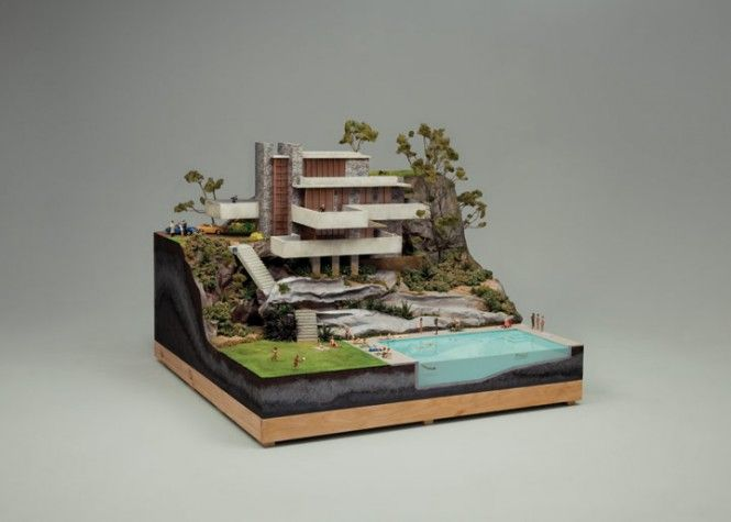 online zum Verkauf offizieller Shop diversifiziert in der Verpackung Creative Recreations of Frank Lloyd Wright's Falling Water ...