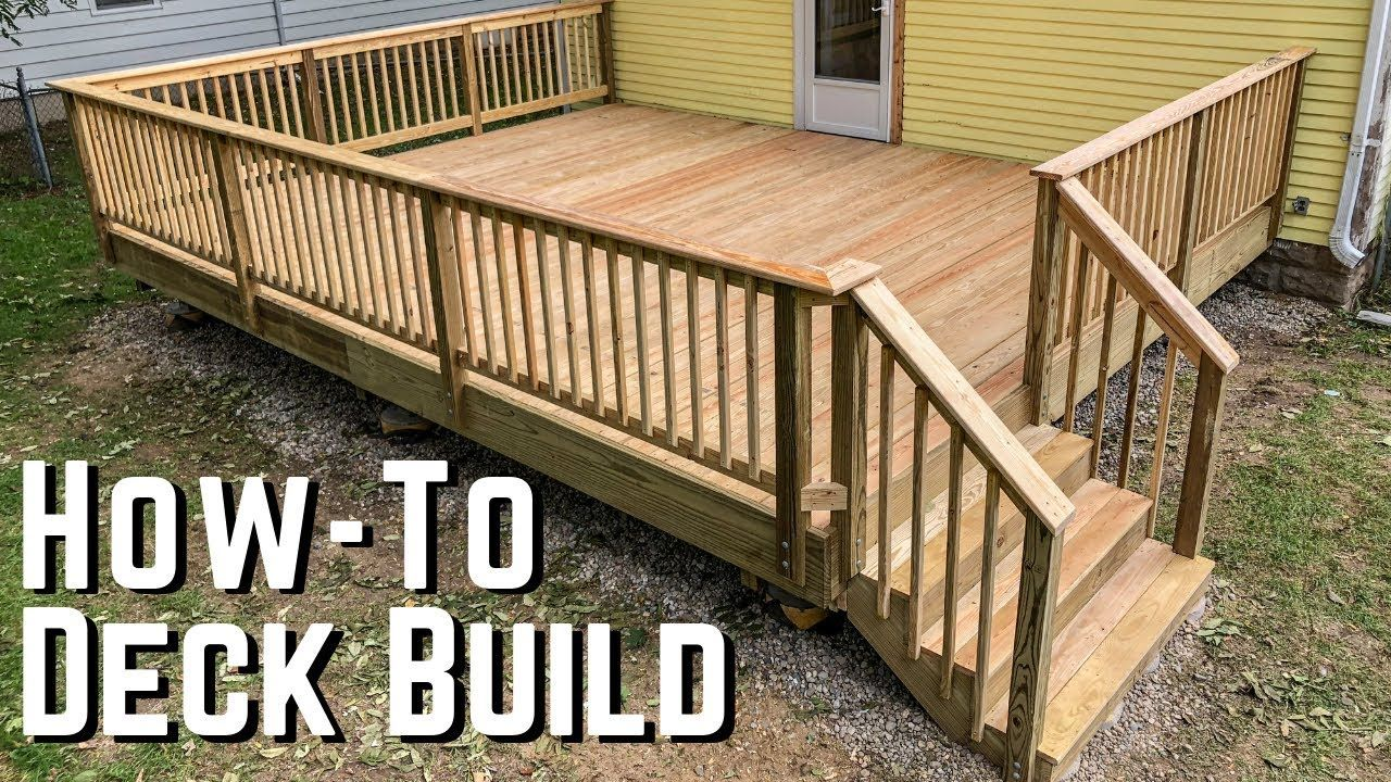 How To Build A Deck Diy Home Improvement Terrazas De