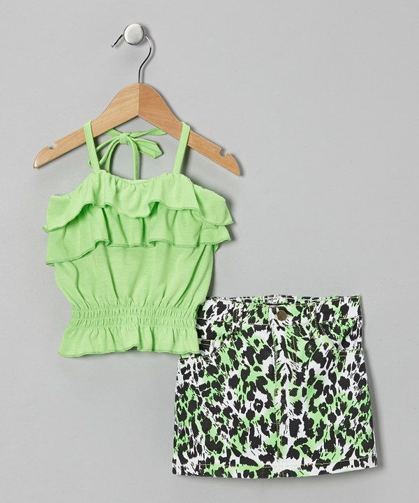 Look at this Green Ruffle Halter Top