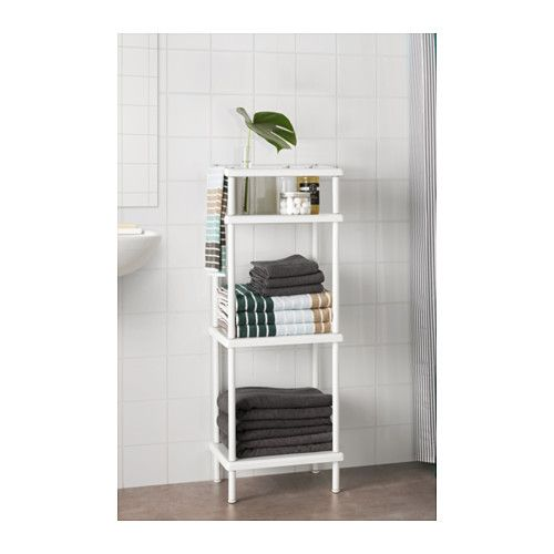 Dynan Shelf Unit With Towel Rail White Ikea Bathroom Towel