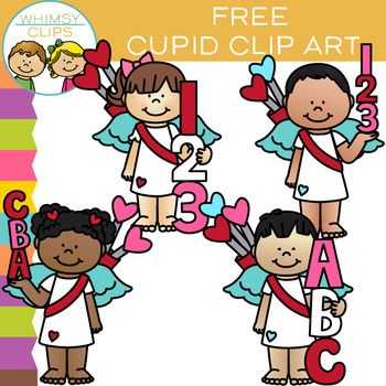 this free valentine s day set includes both boy and girl cupids with rh pinterest com