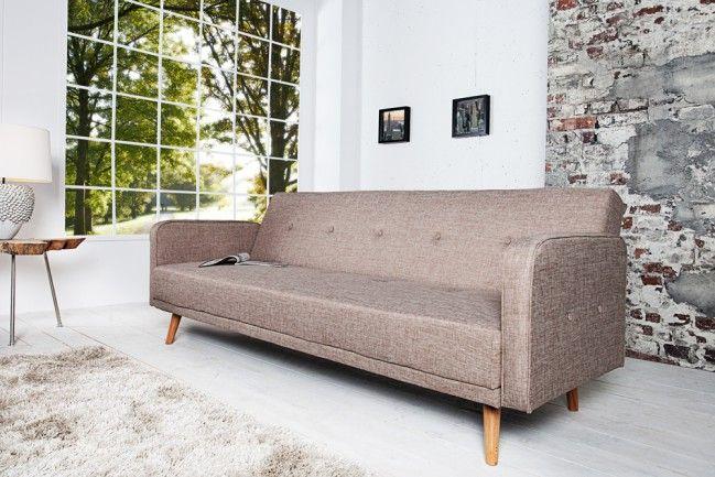 Design Schlafsofa Scandinavia Beige Mit Hochwertigem Aufbau In 210cm Design Schlafsofa Design Sofa Sessel
