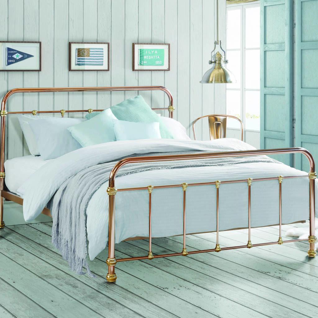 Copper And Brass Vintage Style Bed Bed Design Vintage Bed Frame Bed Styling
