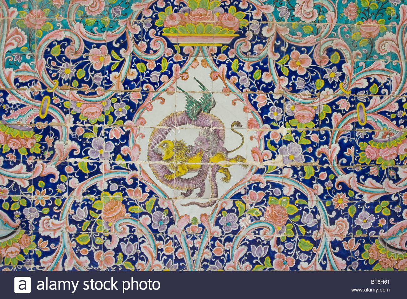 Ceramic tile detail at golestan palace in tehran iran bt8h61 ceramic tile detail at golestan palace in tehran dailygadgetfo Gallery