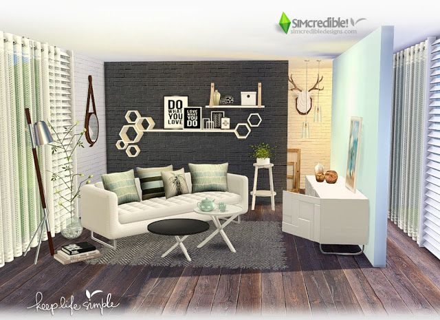 Sims 4 Cc S The Best Keep Life Simple Living Room By Simcredible