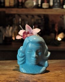 Blue Lady ceramic vessel... I need this for pen storage/ flowers!