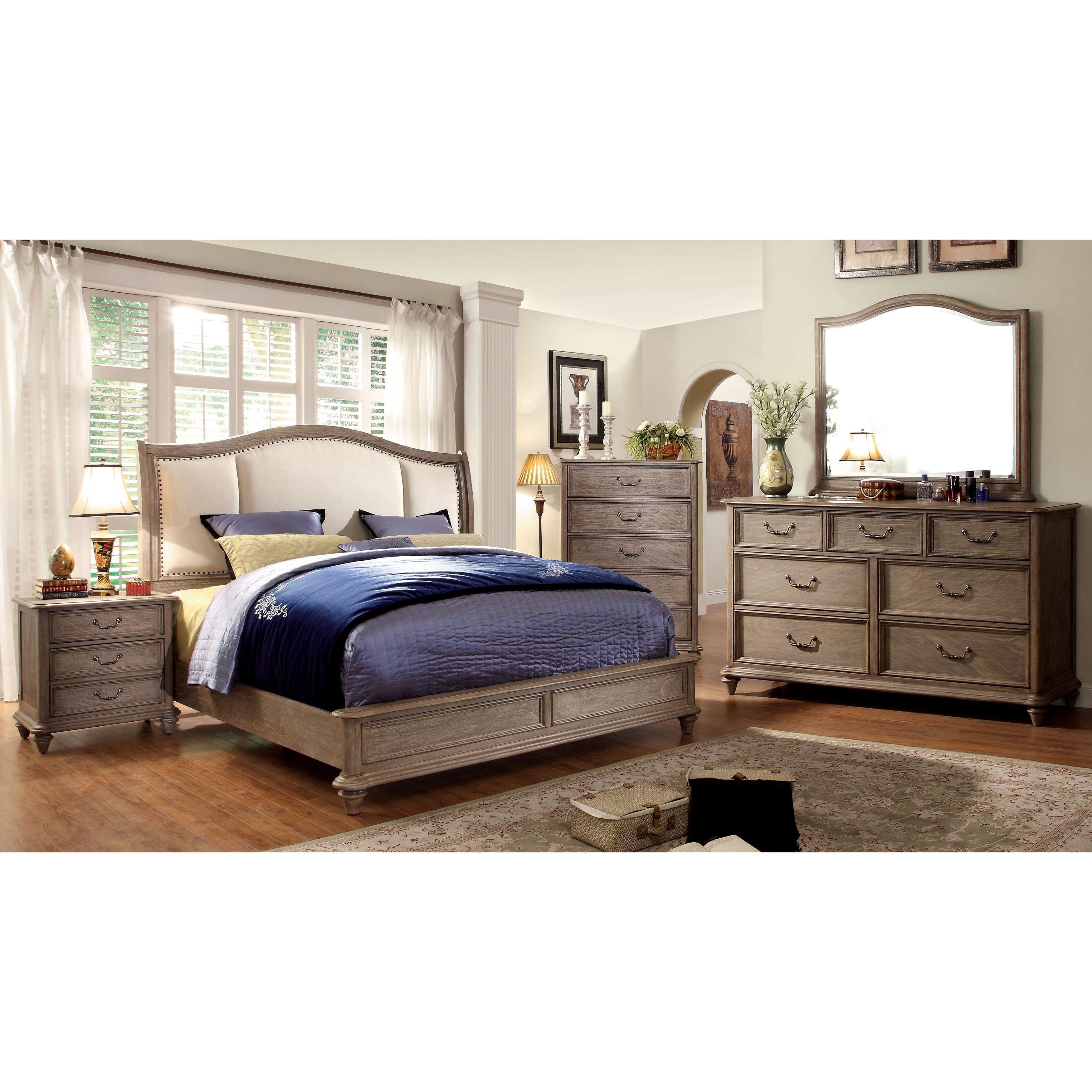 Furniture Of America Siko Rustic Brown 4 Piece Bedroom Set